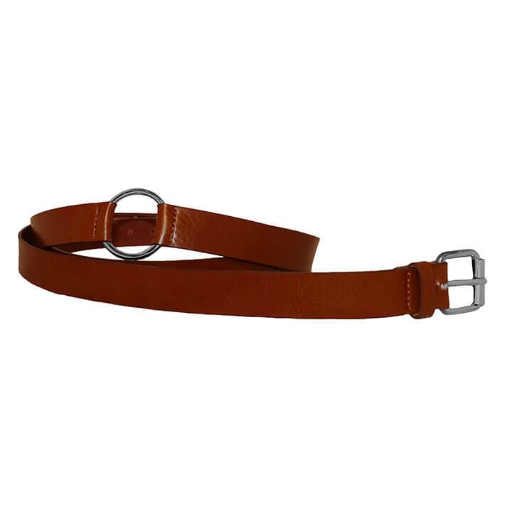 Elvy Belt Dubbele Wikkelriem met Ring 215 cm Cognac