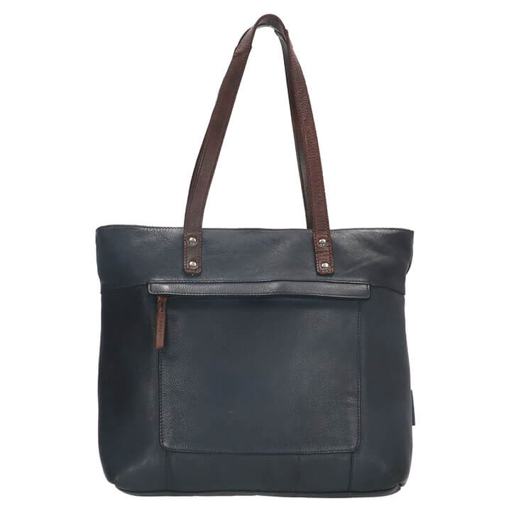 Micmacbags Shopper Highland Park Navy Blauw