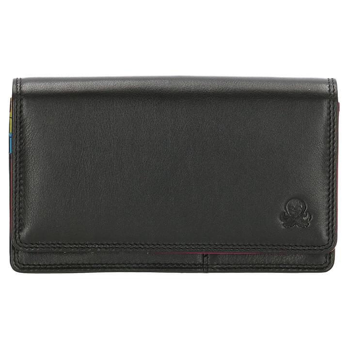 Happy Wallet Portemonnee met Overslag Zwart