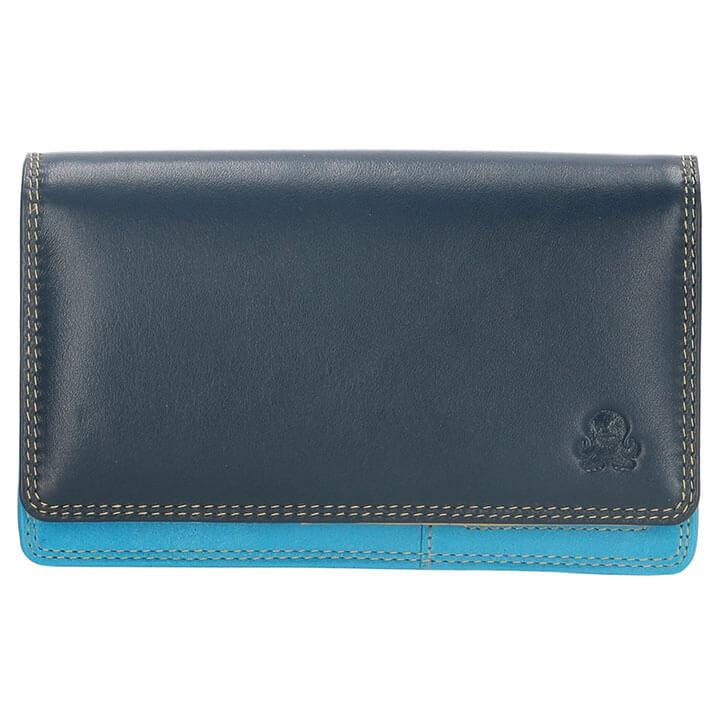Happy Wallet Portemonnee met Overslag Blauw