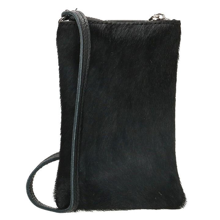 Charm London Phone Bag Elisa Telefoontasje Vachtje Zwart