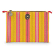 Pip Studio Make Up Etui Cosmetic Flat Pouch Jambo Flowers/Blurred Lines Yellow