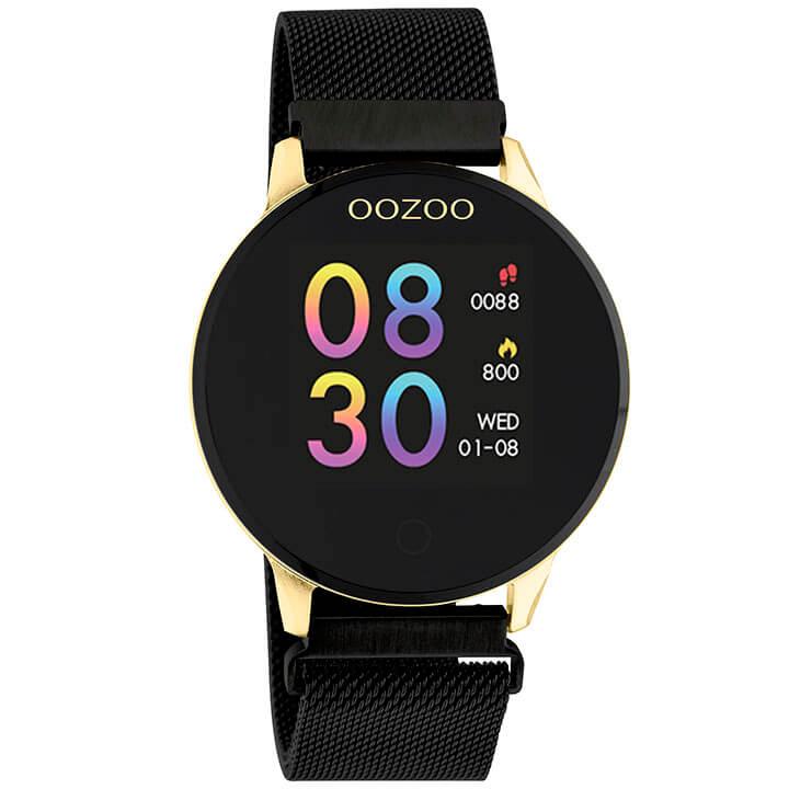 OOZOO Smartwatch Mesh Zwart/Goud | Q00122