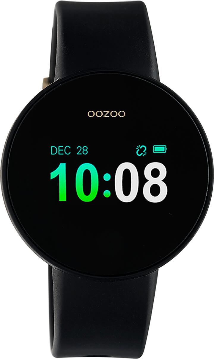 OOZOO Smartwatch Zwart/Zwart/Goud | Q00201