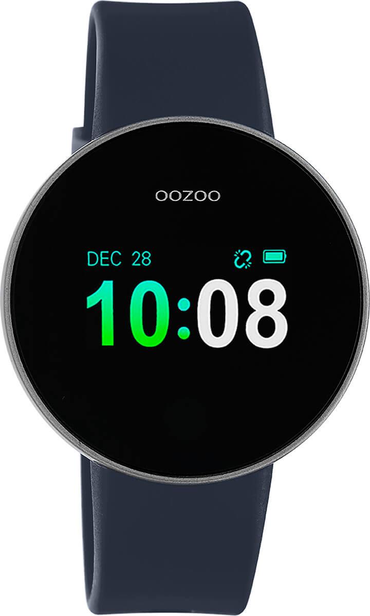 OOZOO Smartwatch Donker Blauw/Zilver | Q00206