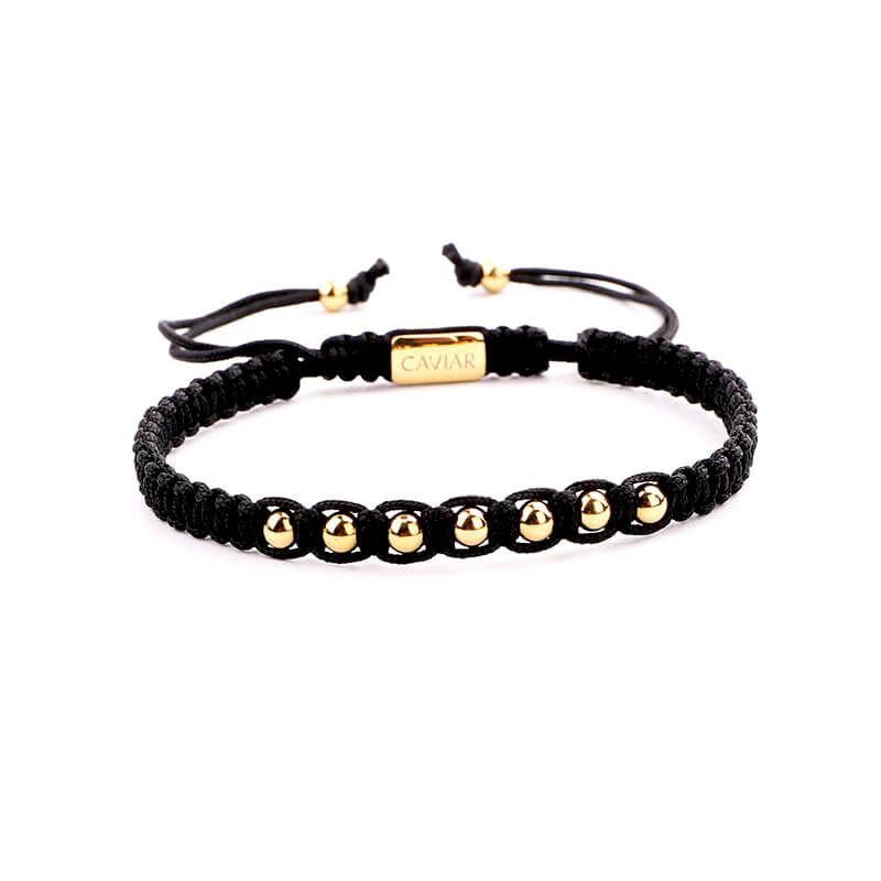 Caviar Collection Armband Alpha Black X Gold