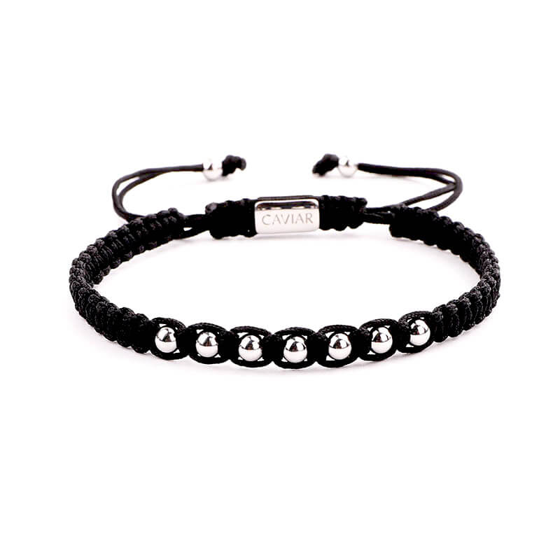 Caviar Collection Armband Alpha Black X White Gold