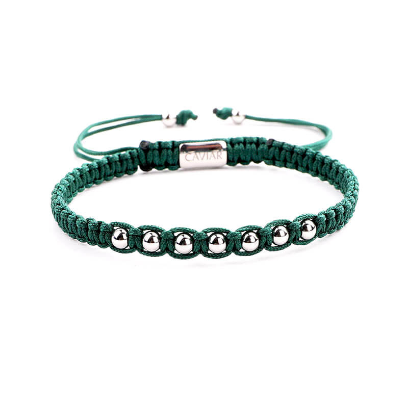 Caviar Collection Armband Alpha Army Green X White Gold