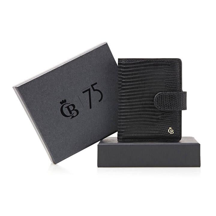 Castelijn & Beerens Mini Wallet RFID Giftbox Zwart