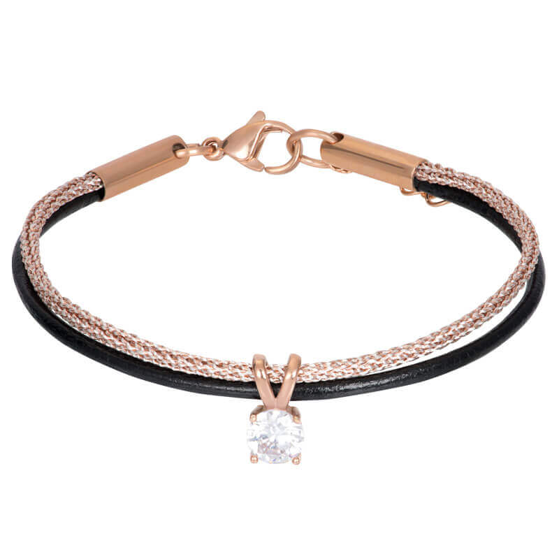 iXXXi Brace Armband met Stras Steentje Rosé / Zwart