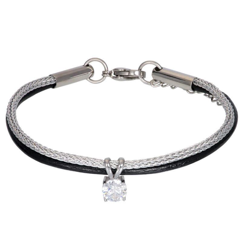 iXXXi Brace Armband met Stras Steentje Zilver / Zwart
