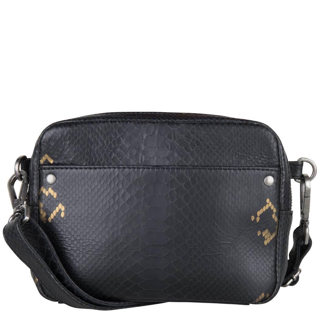 Cowboysbag Crossbody Schoudertas Bag Bobbie X Bobbie Bodt Snake Black and Gold