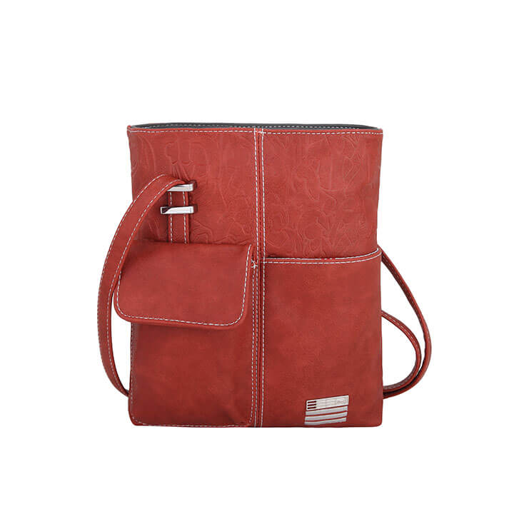 EEEZI Crossbody Schoudertas Rust - Dark Grey