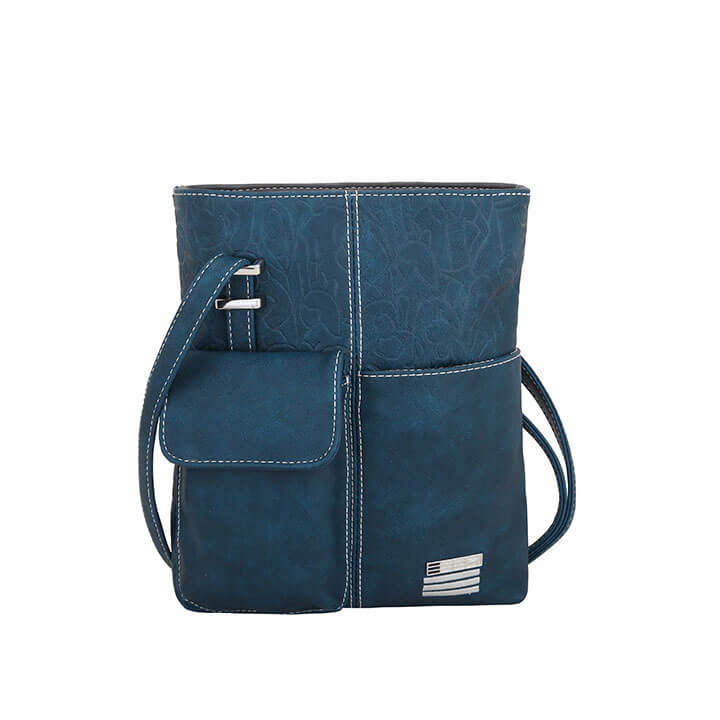 EEEZI Crossbody Schoudertas Petrol - Dark Grey