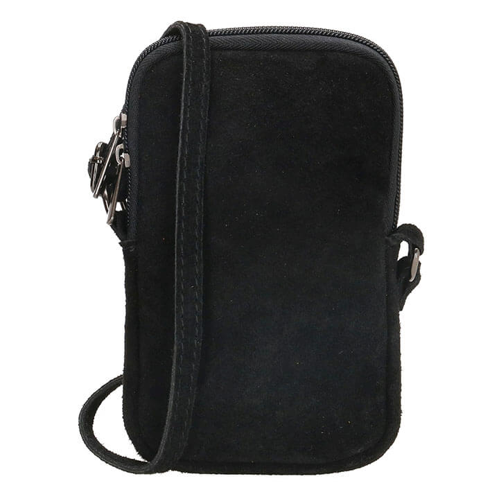 Charm London Phone Bag Elisa Suède Telefoontasje Zwart