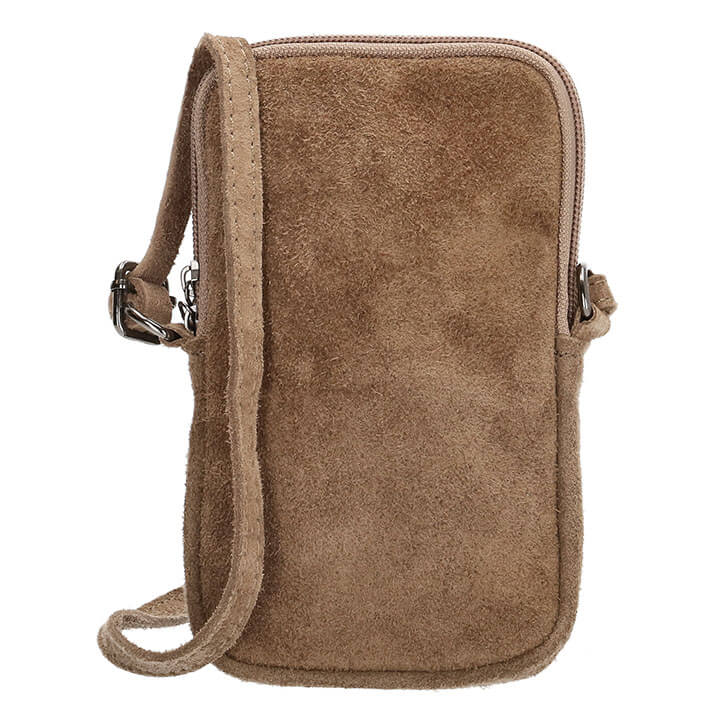 Charm London Phone Bag Elisa Suède Telefoontasje Taupe