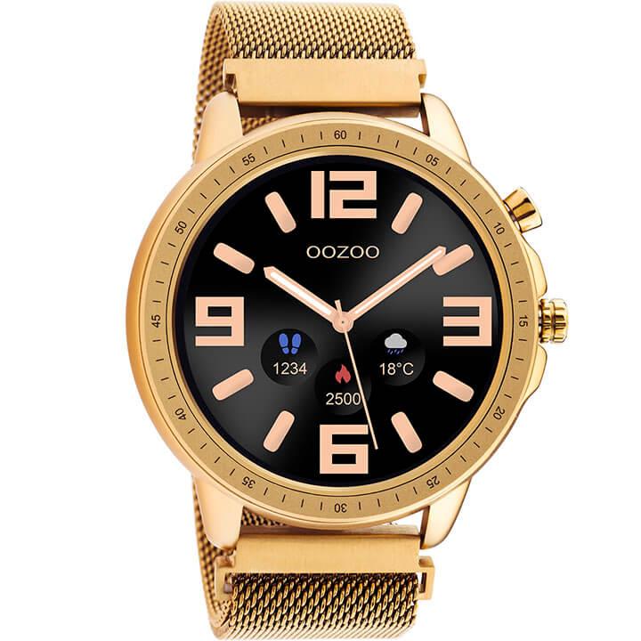 OOZOO Smartwatch Mesh Rosé Goud | Q00307