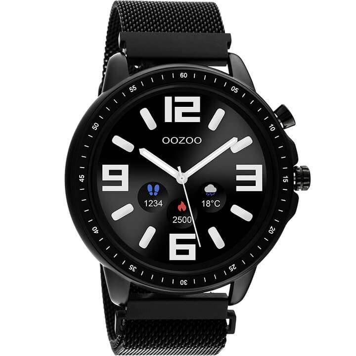 OOZOO Smartwatch Mesh Zwart | Q00309