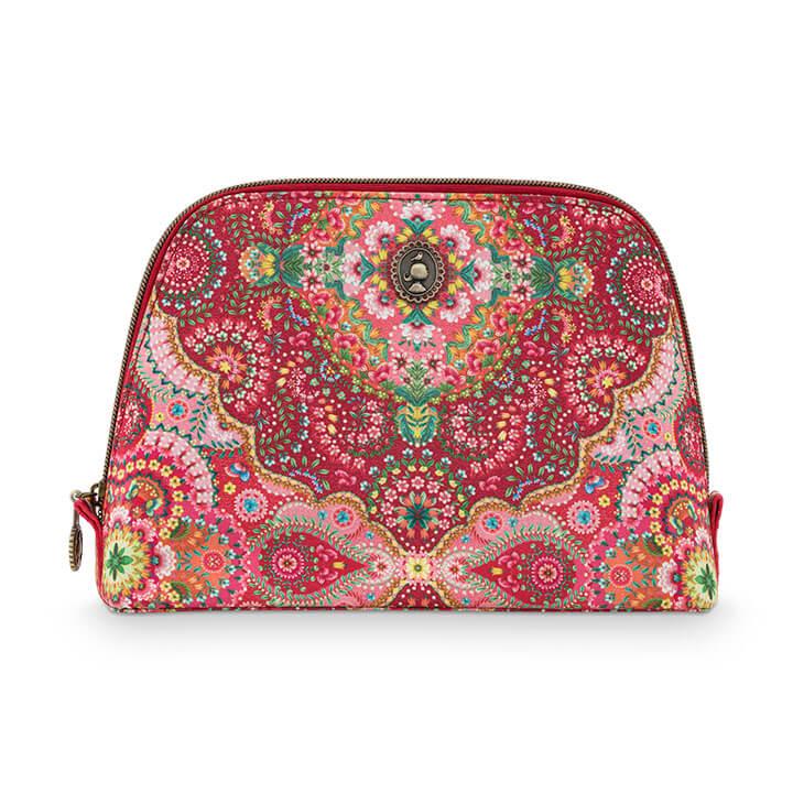 Pip Studio Toilettas Cosmetic Bag Triangle Delight Red