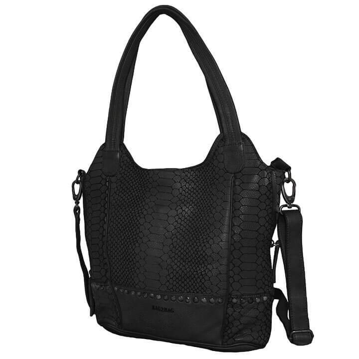 Bag2Bag Shopper / Schoudertas Merida Zwart
