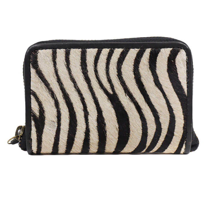 Bear Design Zip Around Portemonnee Zebra