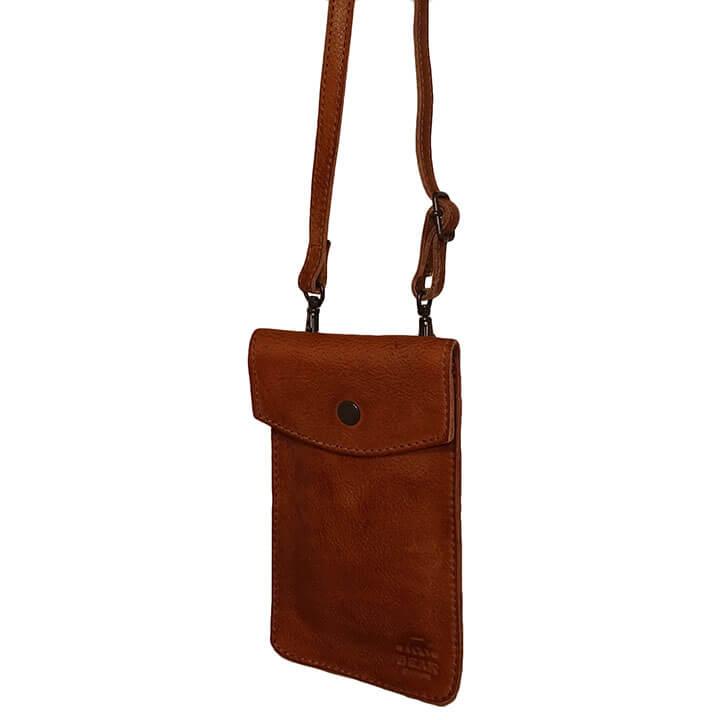 Bear Design Phone Bag Priya Telefoontasje Cognac