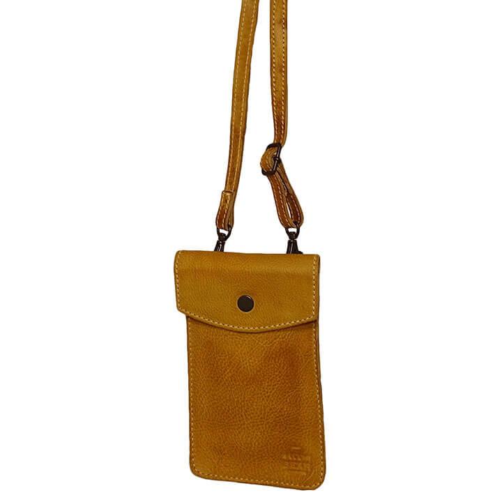 Bear Design Phone Bag Priya Telefoontasje Geel