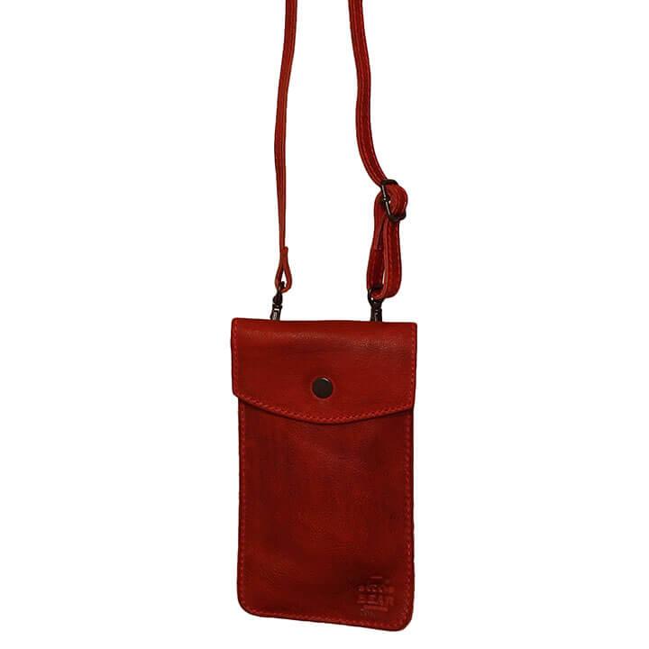 Bear Design Phone Bag Priya Telefoontasje Rood