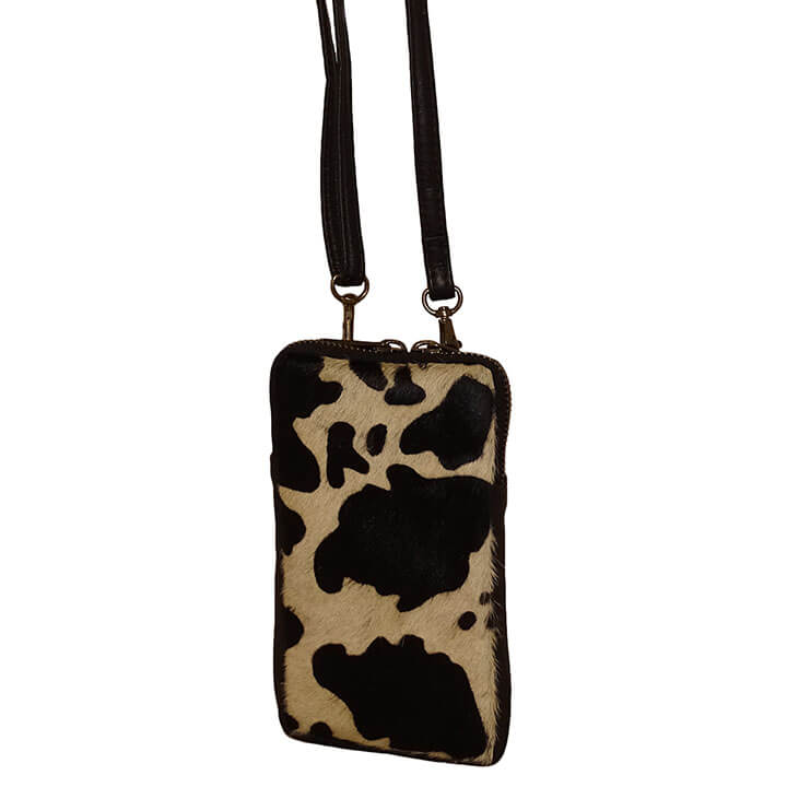 Bear Design Phone Bag Telefoontasje Jersey Cow
