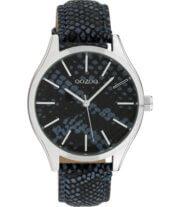 OOZOO Timepieces Horloge Donker Blauw Snake | C10434