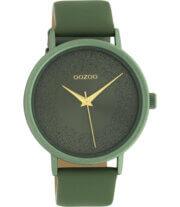 OOZOO Timepieces Horloge Lily Pad Groen   C10582