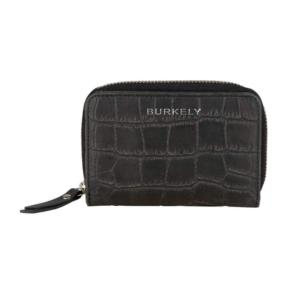 Burkely Croco Caia Wallet S Portemonnee RFID Zwart