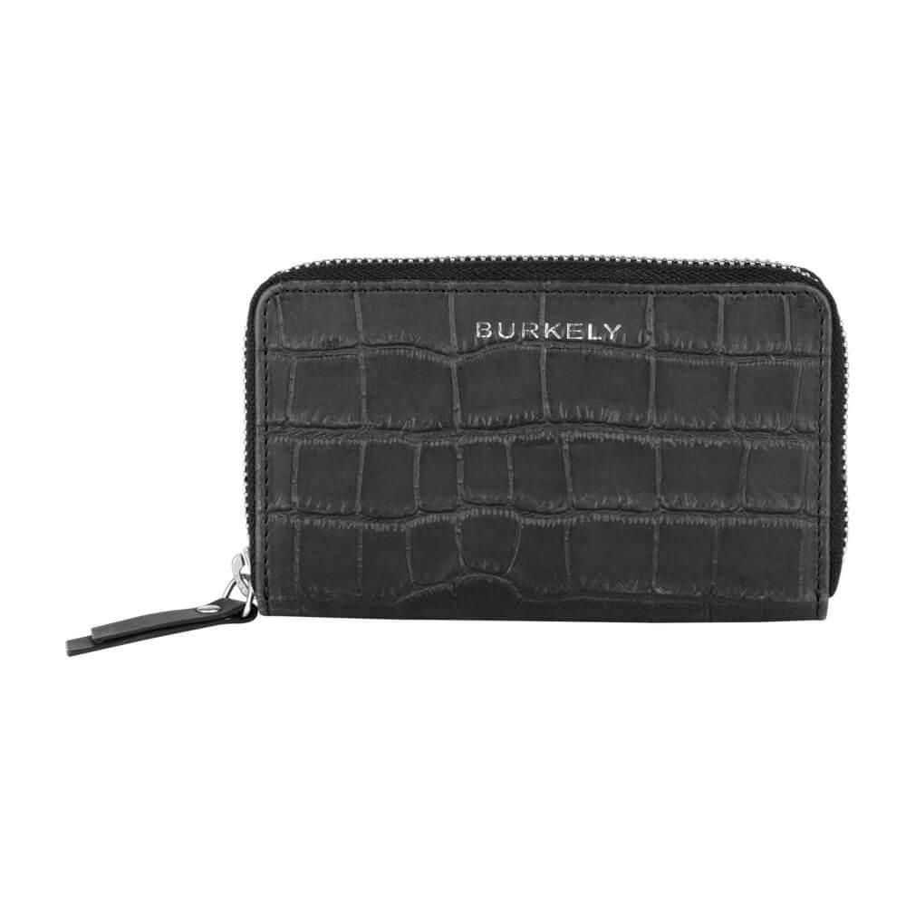 Burkely Croco Caia Wallet M Portemonnee RFID Zwart
