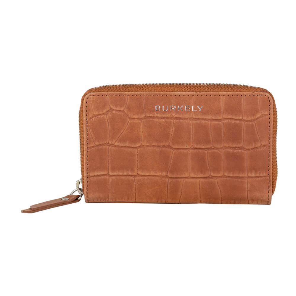 Burkely Croco Caia Wallet M Portemonnee RFID Cognac