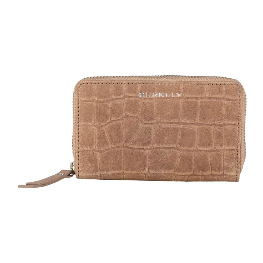 Burkely Croco Caia Wallet M Portemonnee RFID Taupe