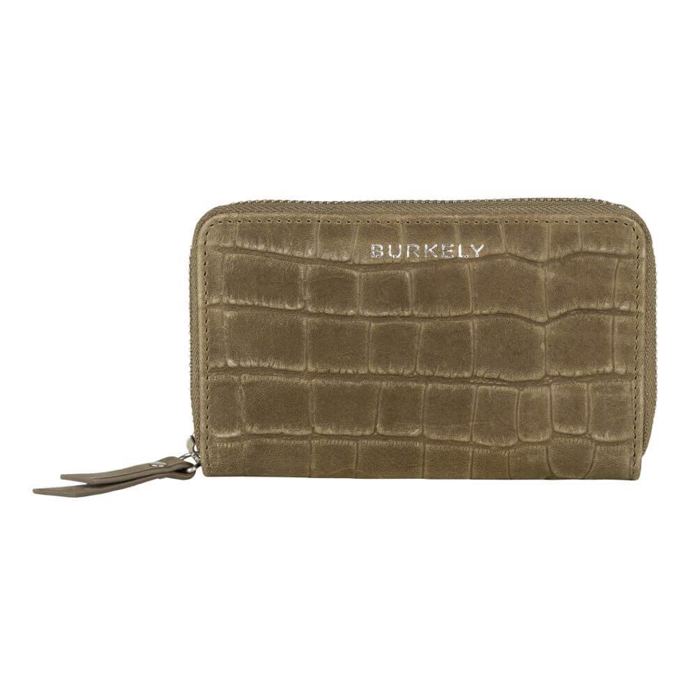 Burkely Croco Caia Wallet M Portemonnee RFID Groen