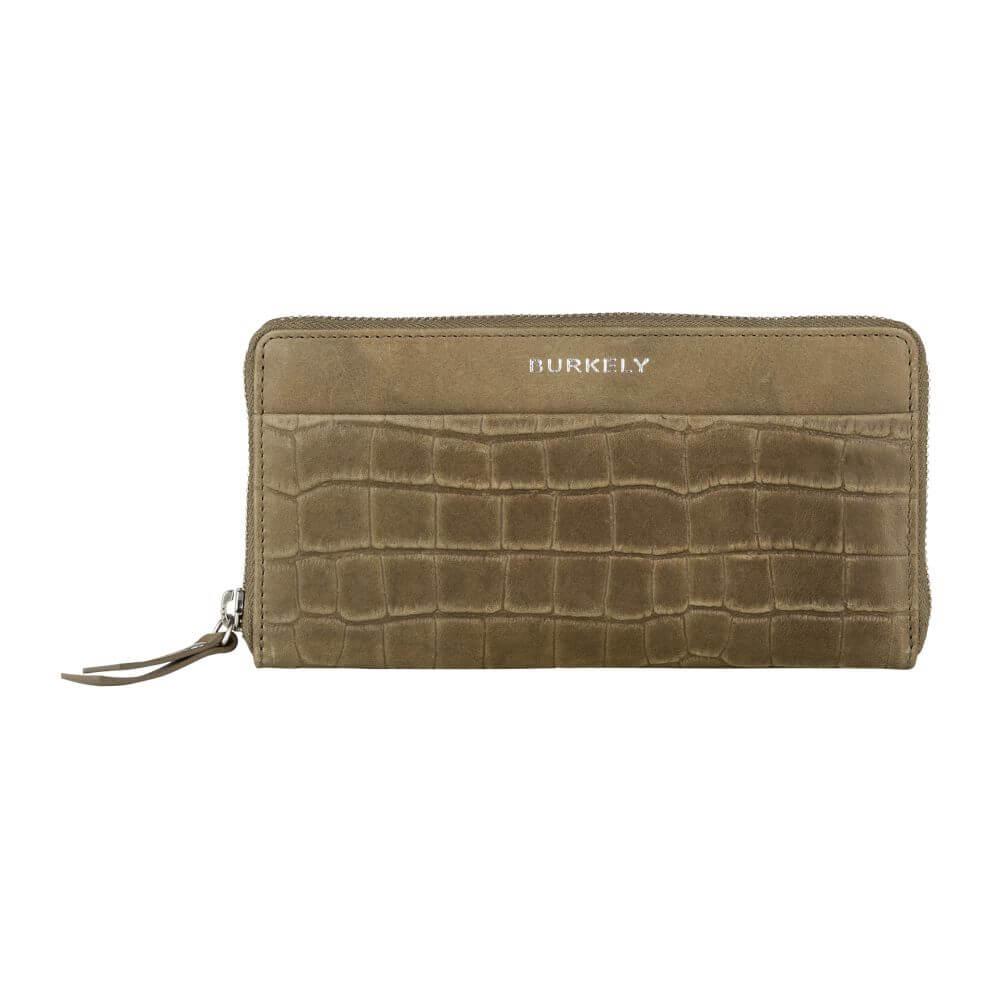 Burkely Croco Caia Wallet L Portemonnee RFID Groen