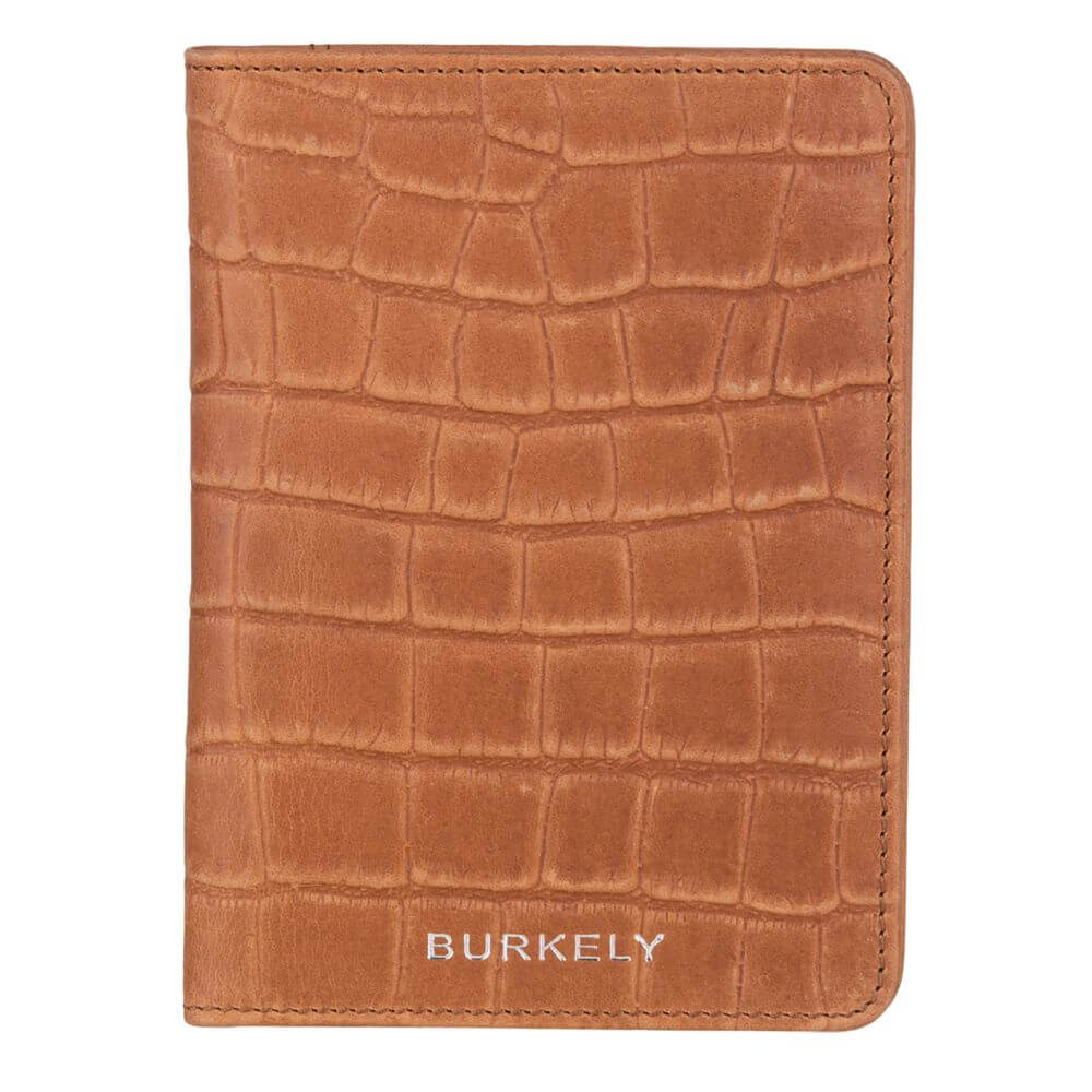 Burkely Croco Caia Paspoort Etui RFID Cognac