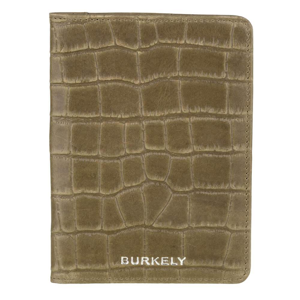 Burkely Croco Caia Paspoort Etui RFID Groen