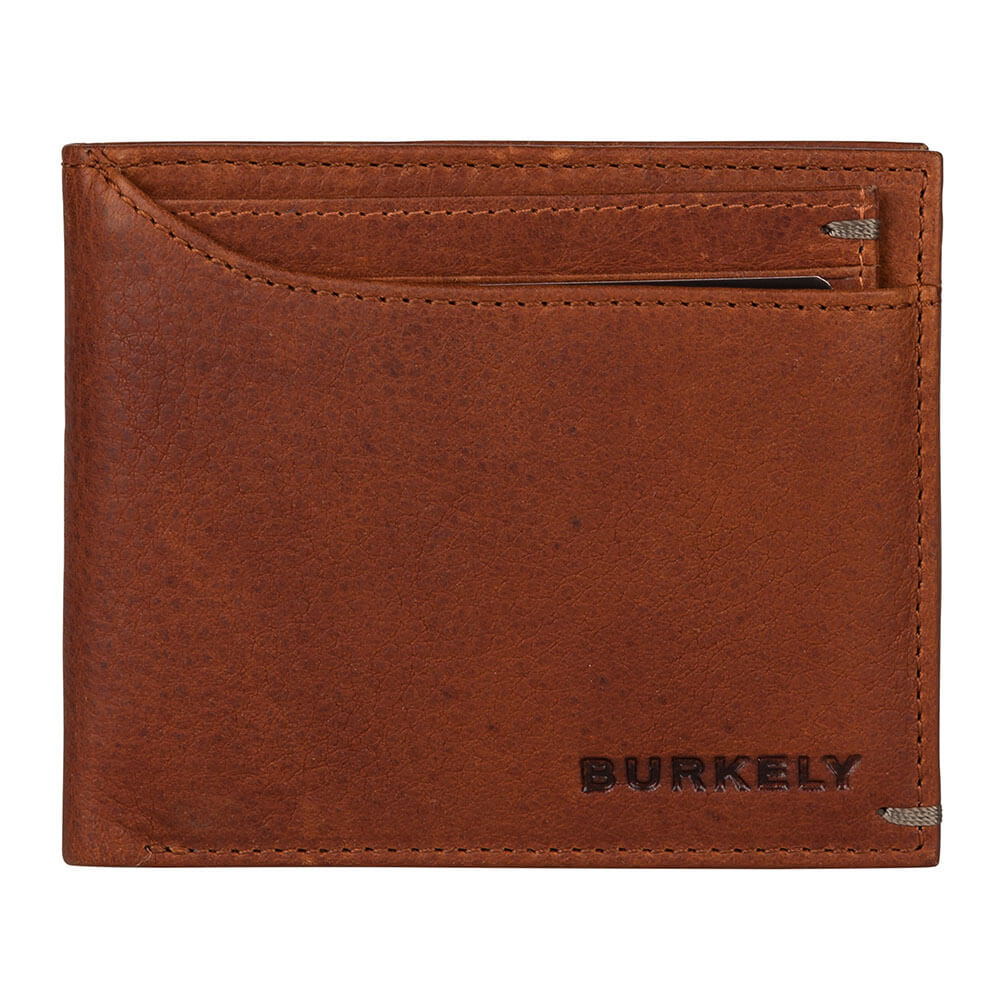 Burkely Antique Avery Billfold Low & CC Holder RFID Cognac