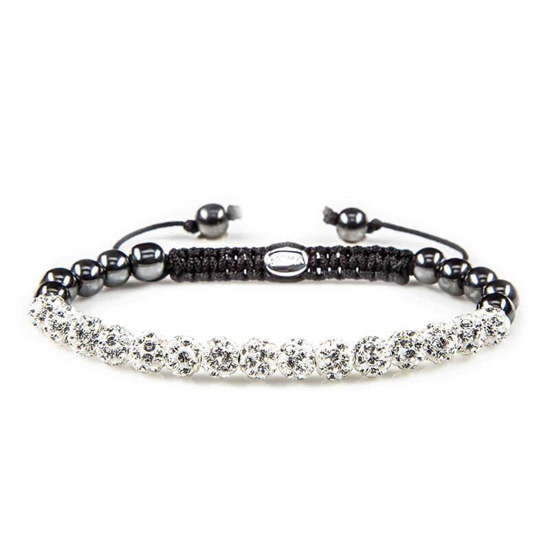 Karma Armband Spiral Full Crystal White Crystal
