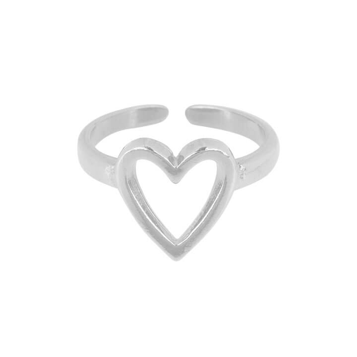 &Anne Ring - Heart Zilver