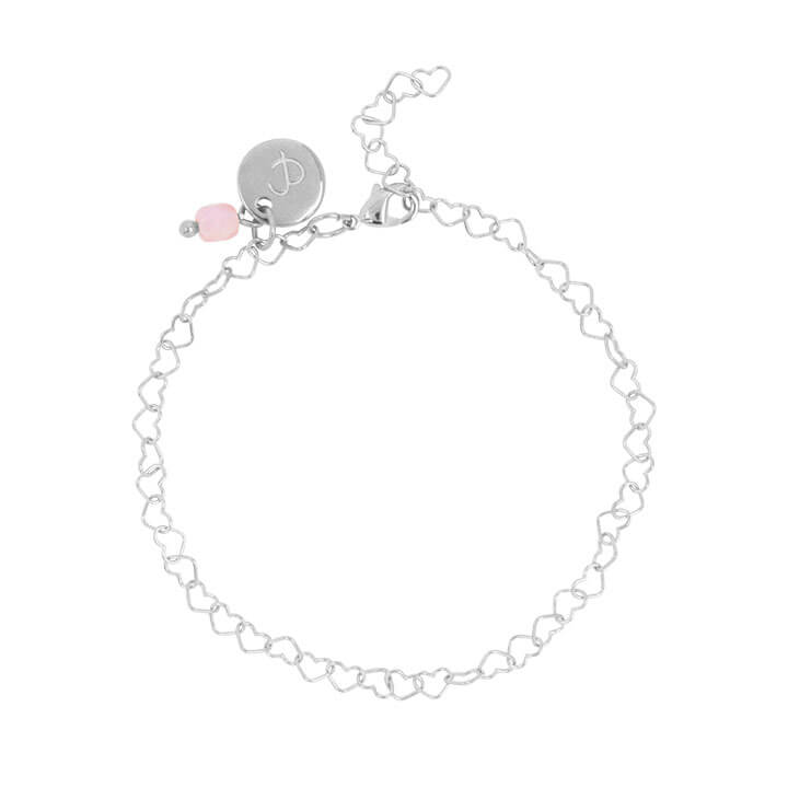 &Anne Armband - Heart Chain Zilver