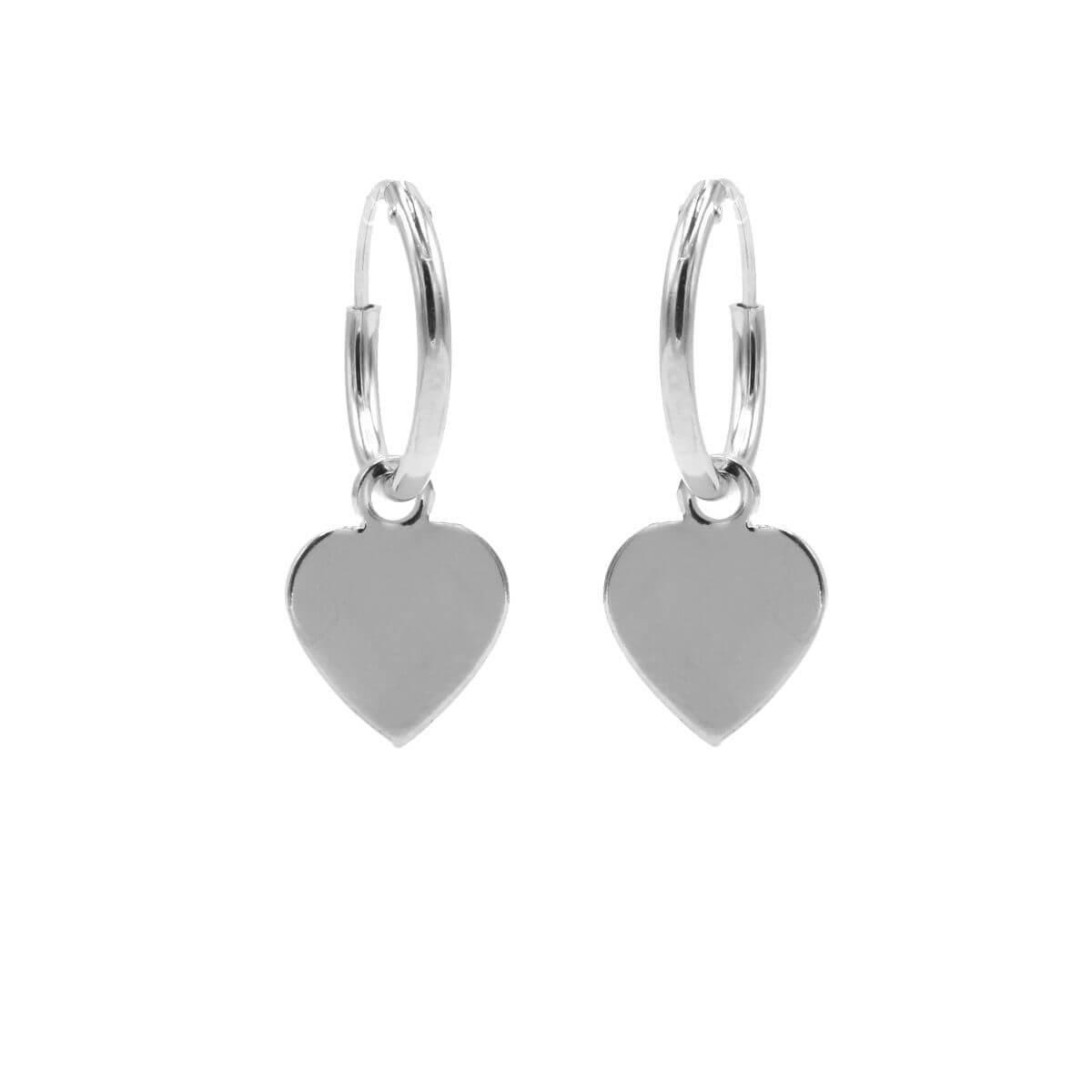 Karma Oorringen Hoops Heart Zilver