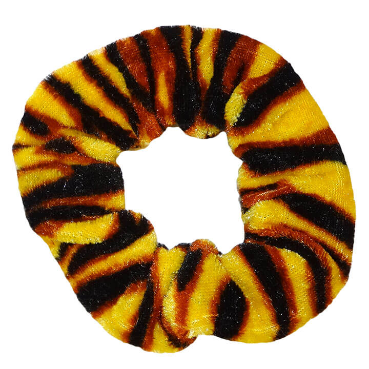 Scrunchie Haarelastiek Velvet Striped Leopard