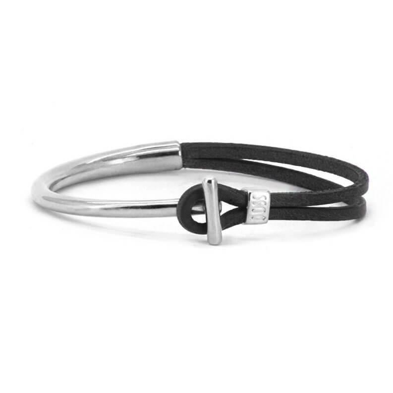 Qoss Zwarte Armband Viev Staafje
