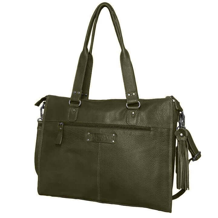 Bag2Bag Laptoptas 15.6'' Boston Olijf
