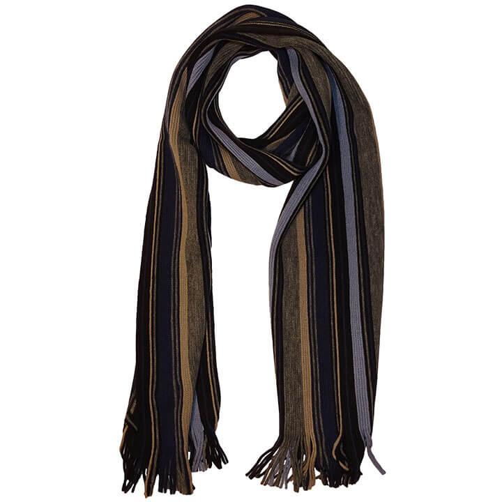 Daspartout Langwerpige Katoenen Sjaal Gestreept Blauw/Grijs