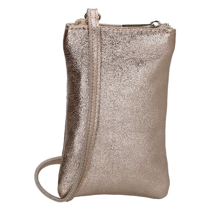 Charm London Phone Bag Elisa Telefoontasje Metallic Taupe