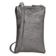 Charm London Phone Bag Elisa Telefoontasje Metallic Donker Zilver